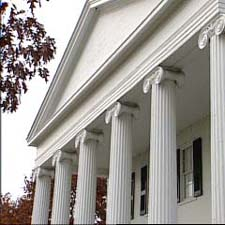 exterior architectural columns in the front of a house