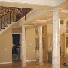 decorative columns that look like stone