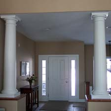 tuscan columns set up like pillars