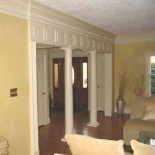interior tuscan columns with millwork