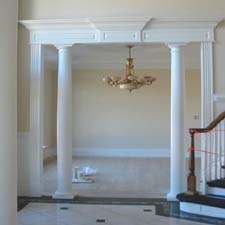 entrance interior tuscan columns