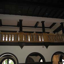 fluted decorative columns on a railing system